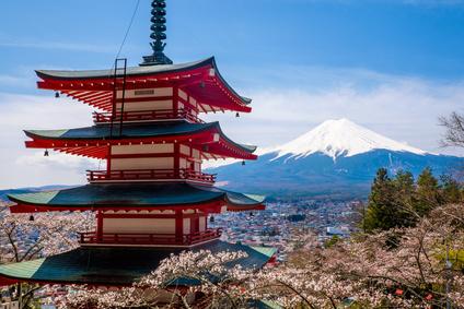 View of Mt Fuji, Japan