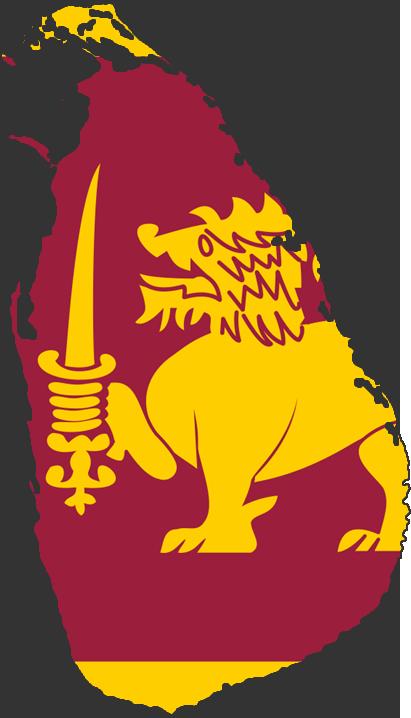 Sri Lanka map and flag