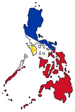 Philippines flag map