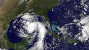 Hurricane Nate satellie image