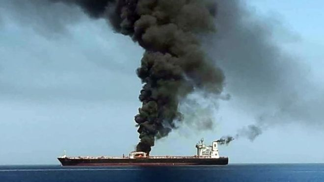 Gulf of Oman oil tanker explosion