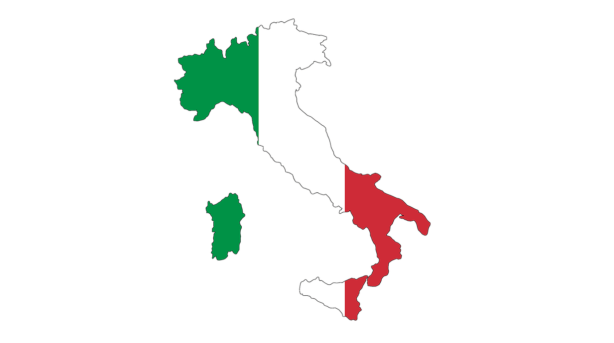 Italy-Flag-Map