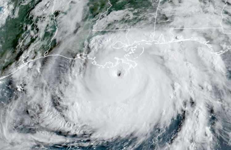 Hurricane Ida satellite image of landfall. Insurance and reinsurance impacts